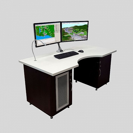 Specialized Operator Automated Workstation of Flight Mission Preparation and Geospatial Information Processing Systems